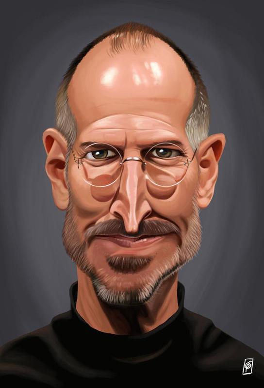 Steve Jobs Alu Dibond Druck
