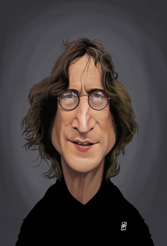 John Lennon Acrylglasbild | Dekoration > Bilder und Rahmen > Bilder | Mehrfarbig | Aluminium