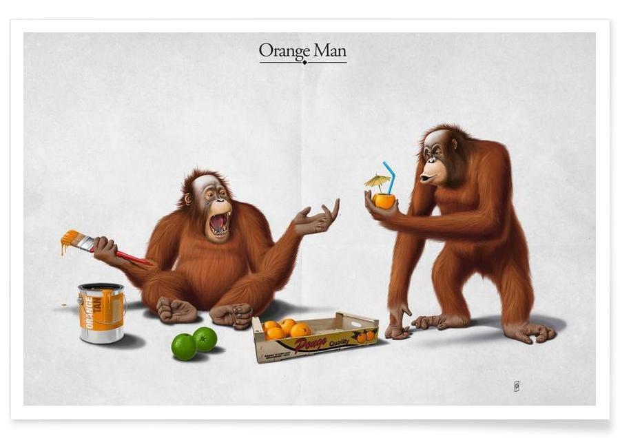Orange Man (titled) Poster