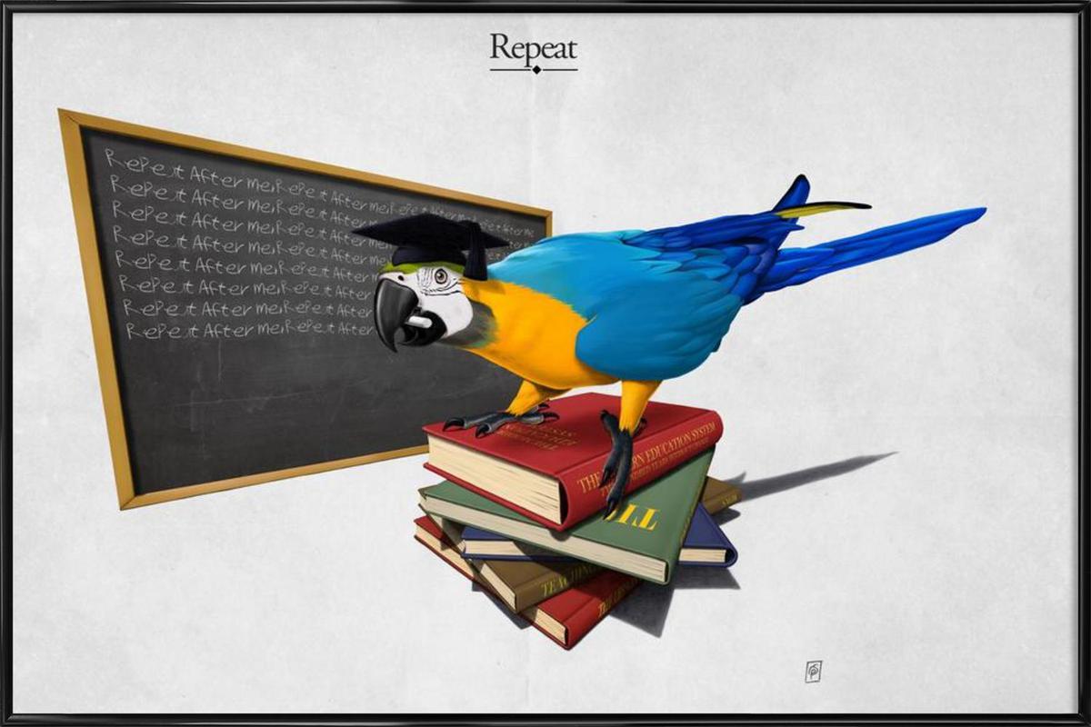Repeat (titled) -Bild mit Kunststoffrahmen