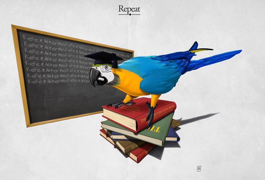 Repeat (titled) -Acrylglasbild