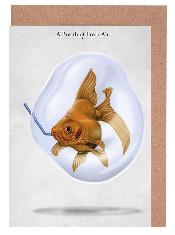 A breath of fresh air (titled) Greeting Card Set