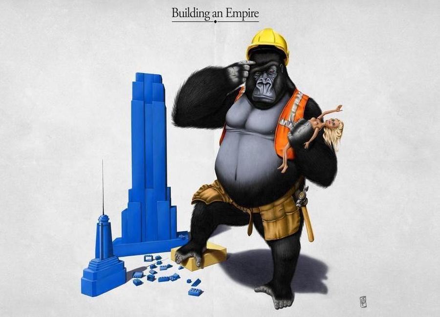Building an empire (titled) -Leinwandbild