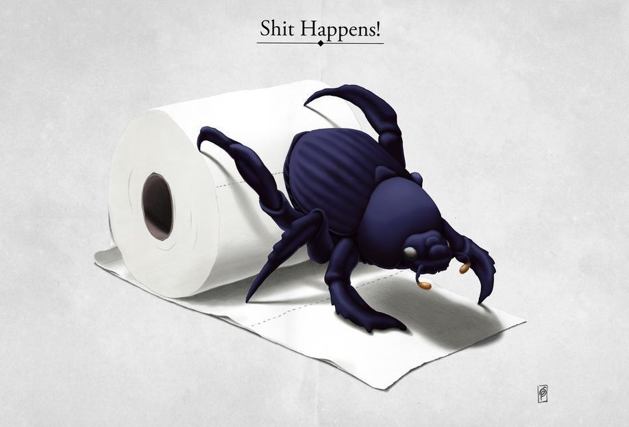 Shit happens (titled) Acrylic Print