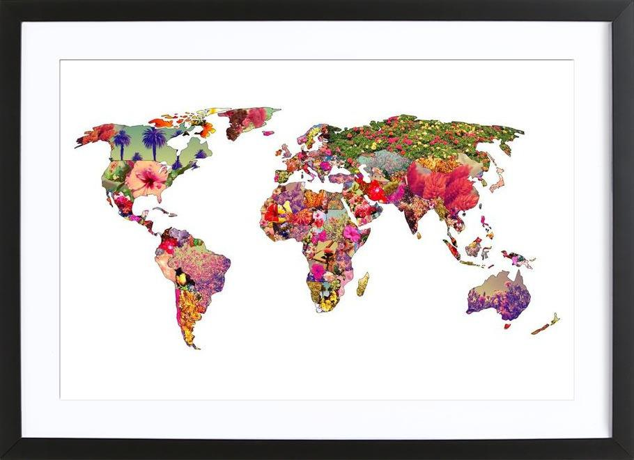 It's your world -Bild mit Holzrahmen