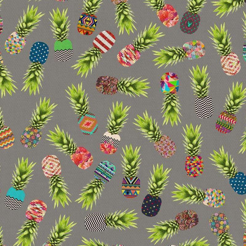 Crazy Pineapple Party canvas doek