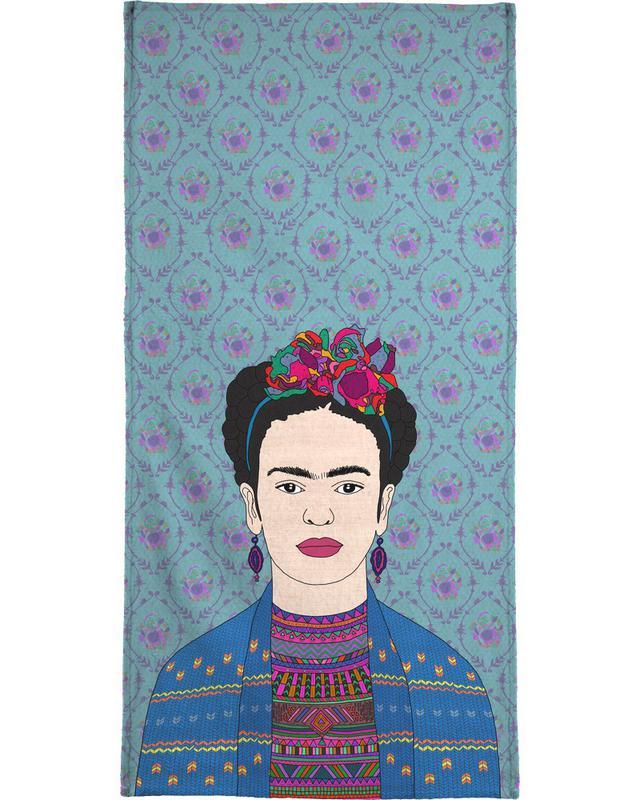 Frida Kahlo Strandtuch | Bad > Handtücher > Saunatücher | Mehrfarbig
