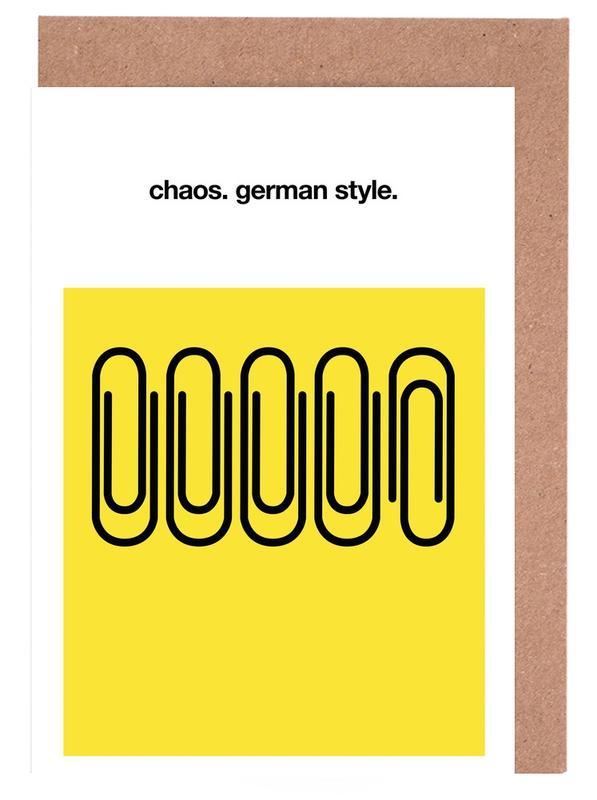 German Chaos -Grußkarten-Set