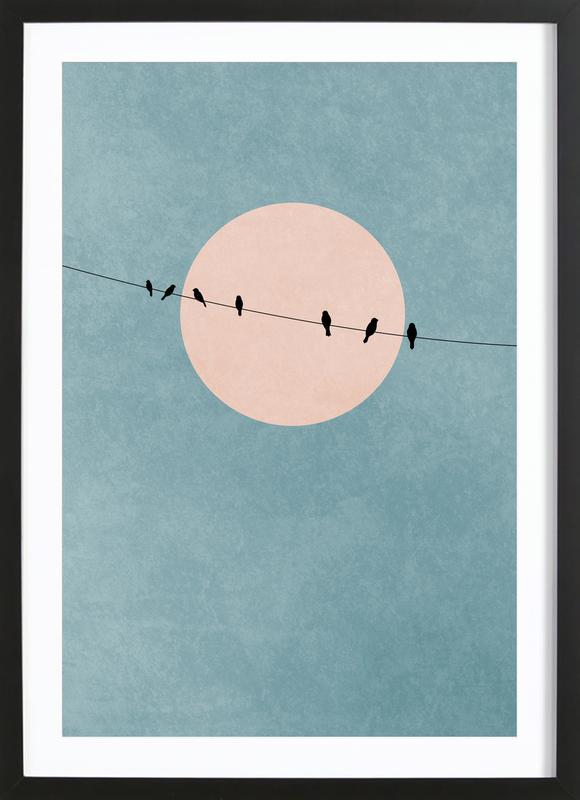 The Beauty of Silence -Bild mit Holzrahmen