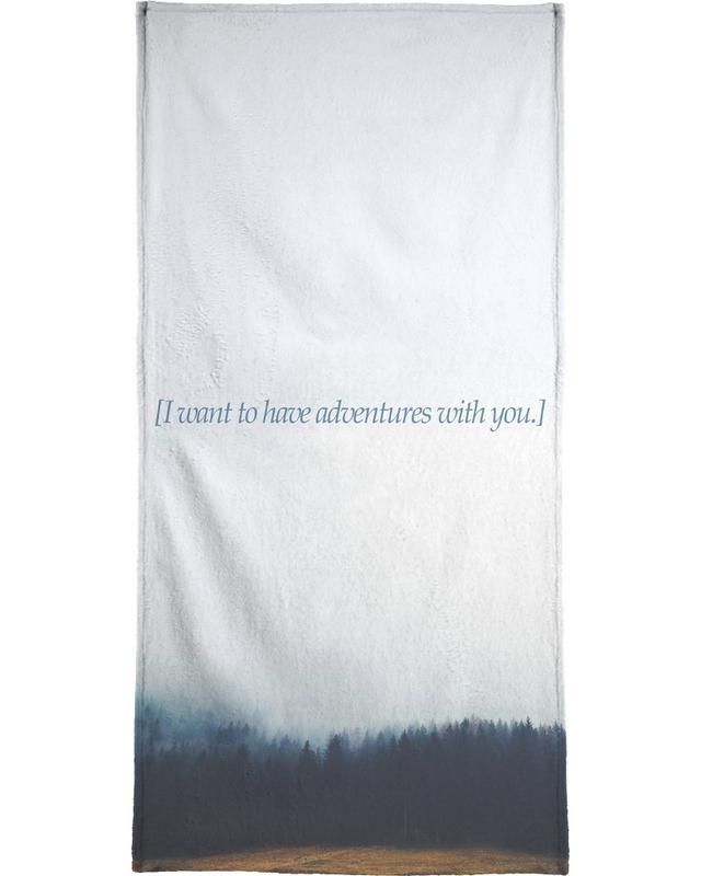 Adventures With You serviette de bain