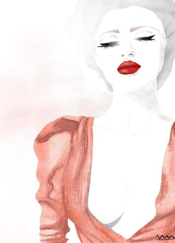 red lips Canvas Print