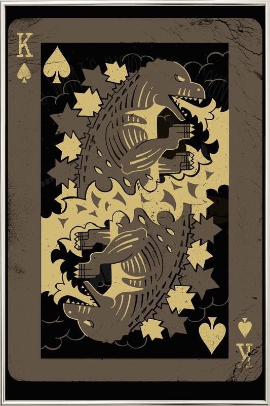King of Monsters Poster im Alurahmen