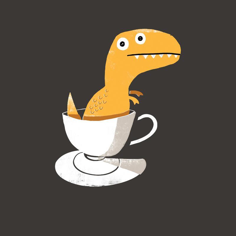 Tea Rex -Leinwandbild