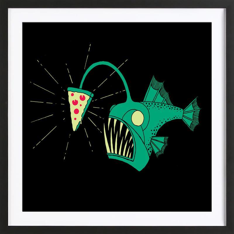 Angling For Pizza ingelijste print
