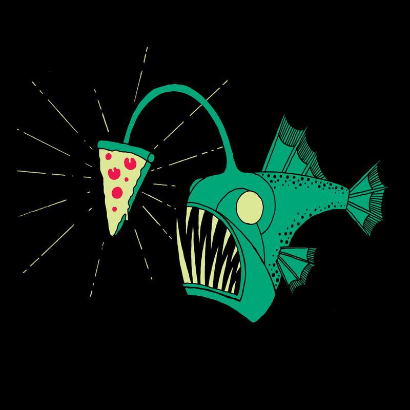 Angling For Pizza alu dibond