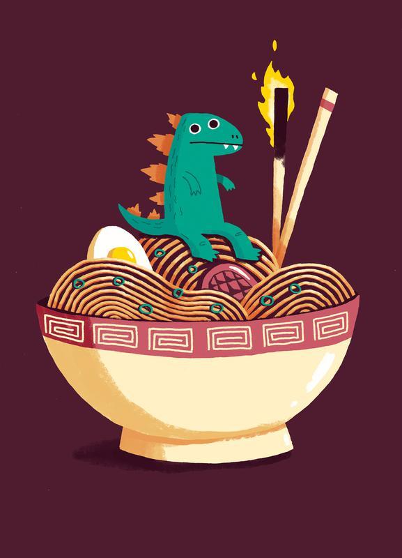 Guardian of the Noodles Canvas Print