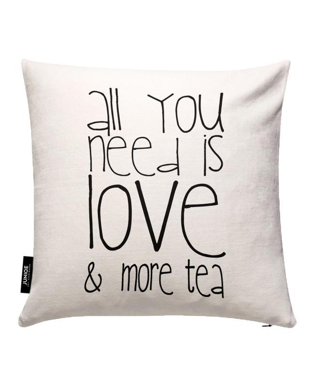 Love and Tea JUNIQE Kissenhülle | Heimtextilien > Bettwäsche und Laken > Kopfkissenbezüge