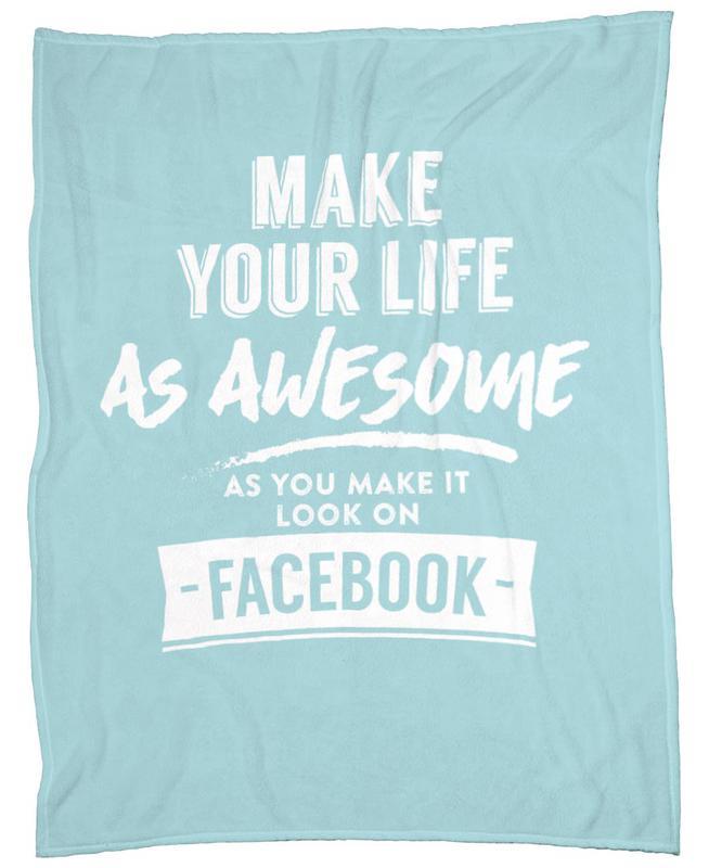Facebook Life Fleecedecke