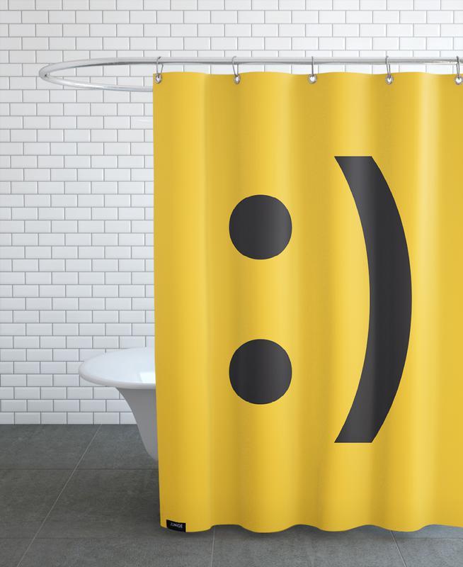 Smiley rideau de douche
