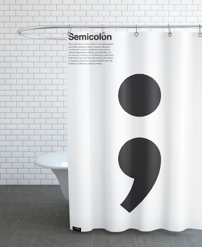 Semicolon Douchegordijn