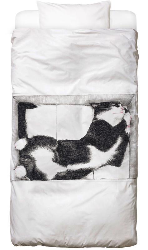 Katze im Karton Kinderbettwäsche
