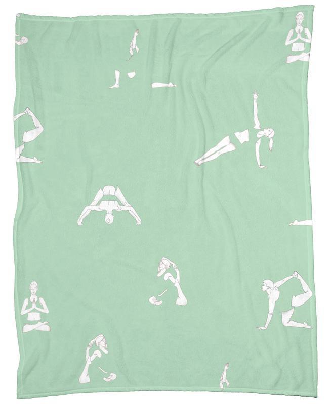 Yoga Practice 15 Fleece Blanket