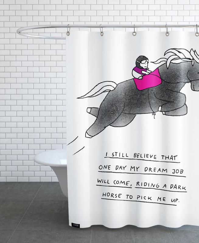 Dream Job Duschvorhang | Bad > Duschen > Duschvorhänge | Mehrfarbig | Polyester