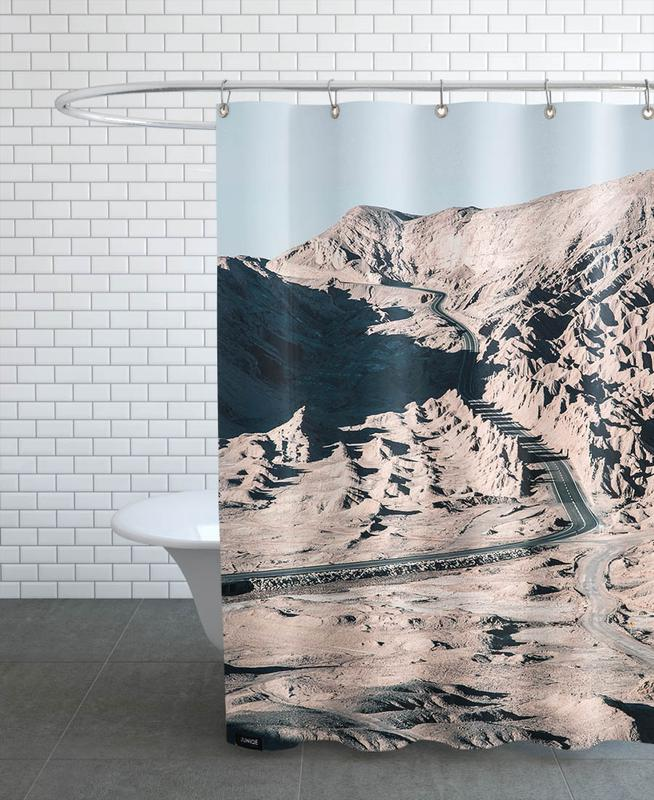 Raw 1 Valle de la Luna Chile Shower Curtain