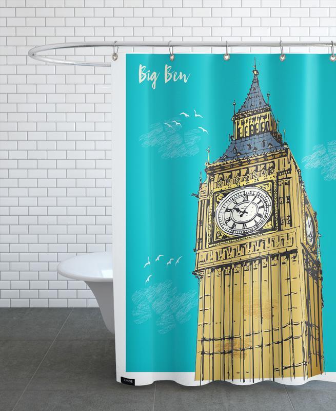 Big Ben Duschvorhang | Bad > Duschen > Duschvorhänge | Mehrfarbig | Polyester
