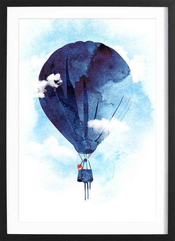 Bye Bye Balloon -Bild mit Holzrahmen