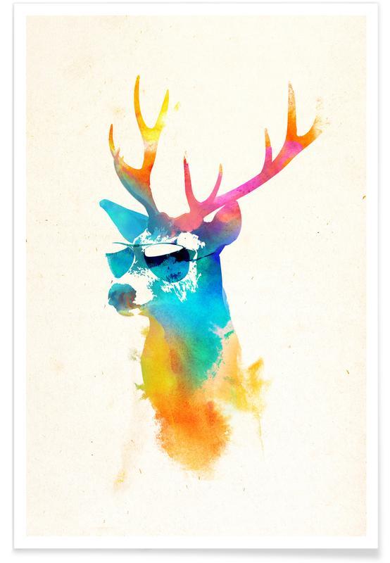 Sunny deer poster