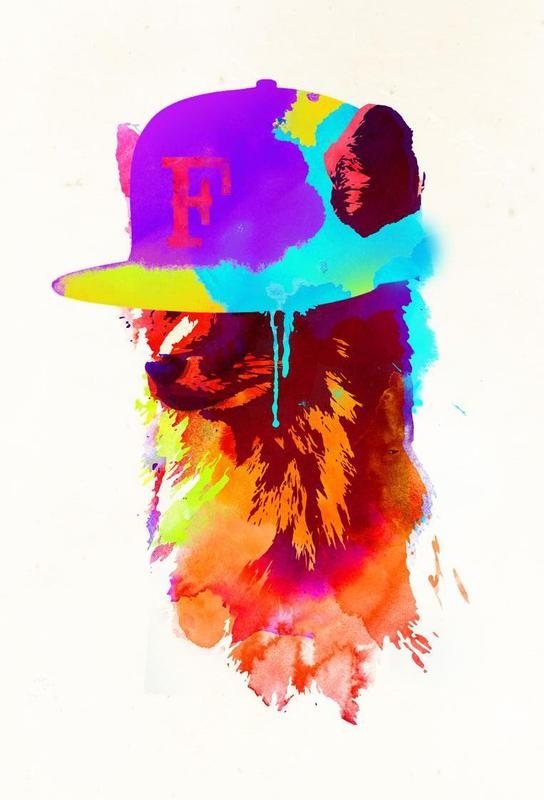 Foxey´s favorite cap Acrylglasbild