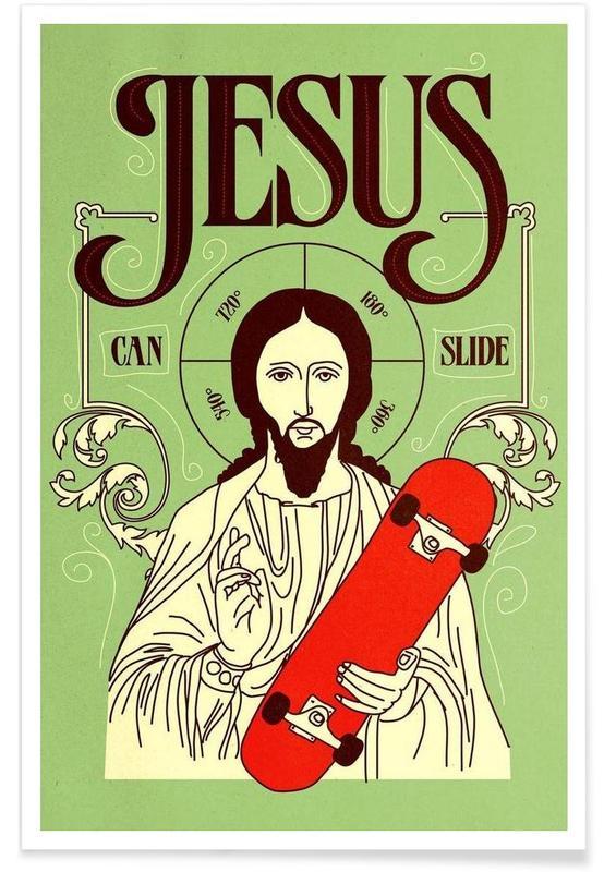 Jesus Can Slide affiche