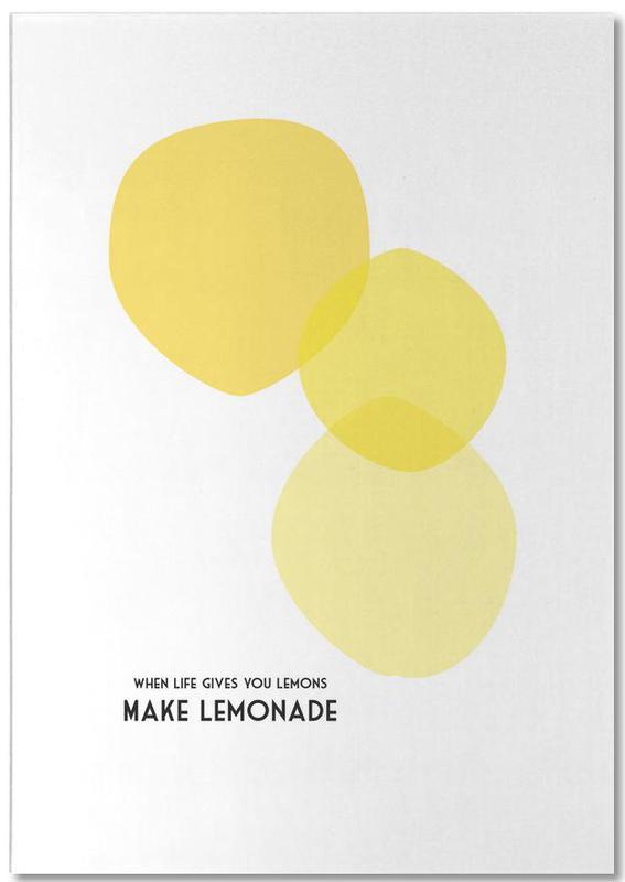 Lemons 2 Notizblock | Dekoration > Accessoires | Mehrfarbig | Papier