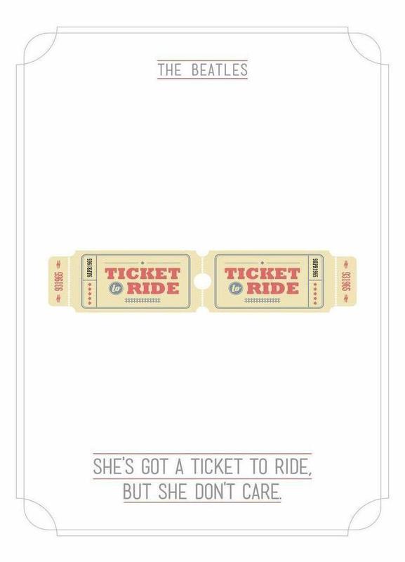 She´s Got a Ticket to Ride Leinwandbild | Dekoration > Bilder und Rahmen > Bilder | Mehrfarbig | Holz