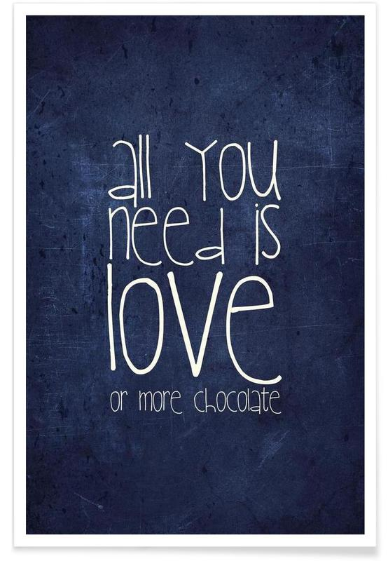 All you need is love & chocolate affiche