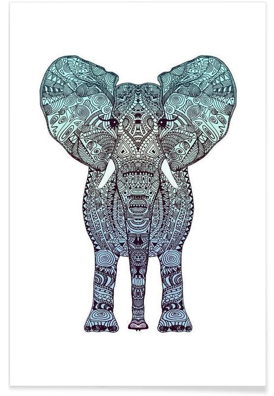 Mint Elephant Poster