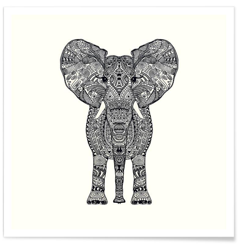 Aztec Elephant Poster