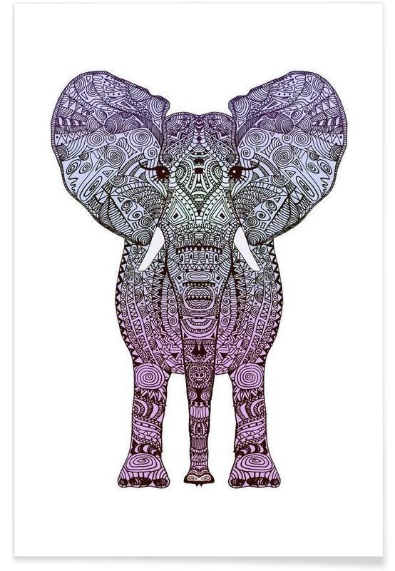 Purple Elephant affiche
