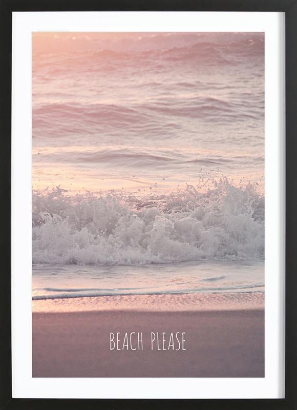 Beach Please -Bild mit Holzrahmen