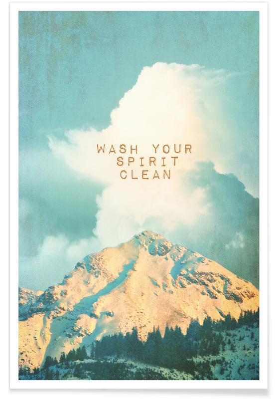 Wash Your Spirit Clean Poster