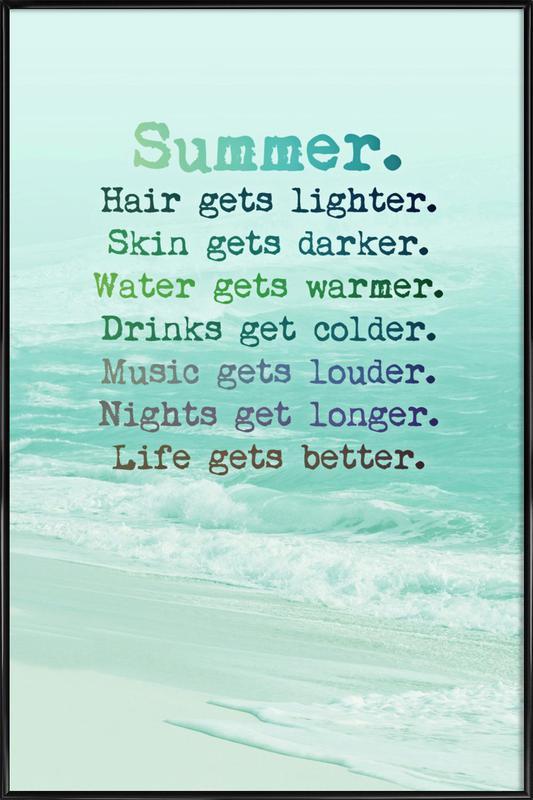 Summer -Bild mit Kunststoffrahmen