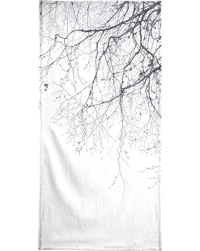 Black Branches Bath Towel