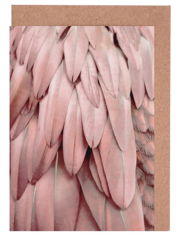 Pastel Feathers Greeting Card Set