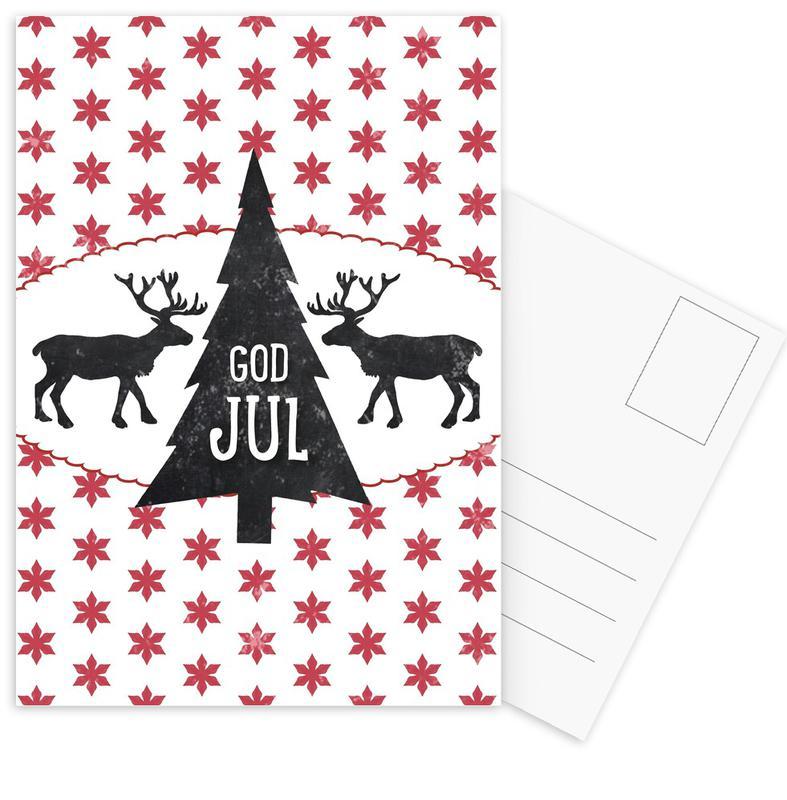 God Jul Postkartenset | Dekoration > Accessoires