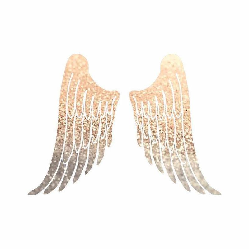 Gold Wings Leinwandbild | Dekoration > Bilder und Rahmen > Bilder | Mehrfarbig | Holz