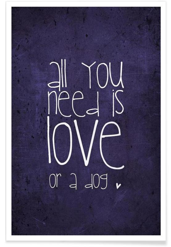 All you need is love & dog -Poster