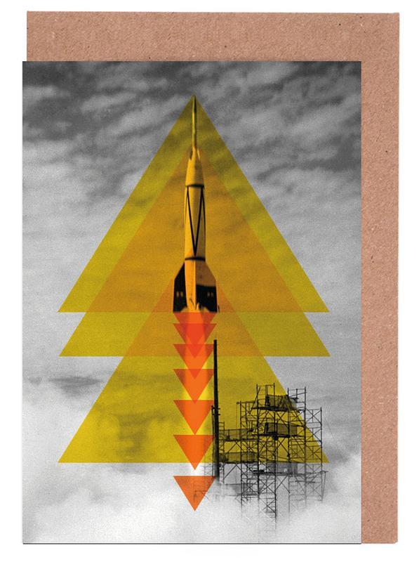 Rocket poster cartes de vœux
