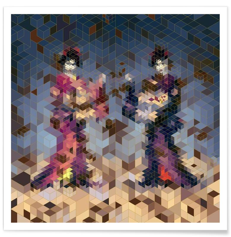 Two Geishas -Poster