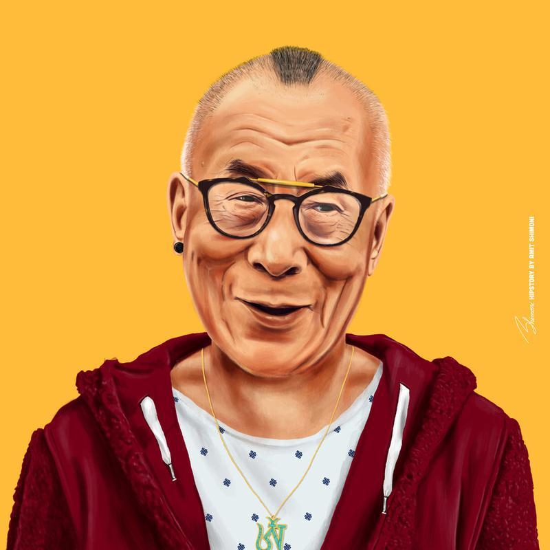 Dalai Lama toile